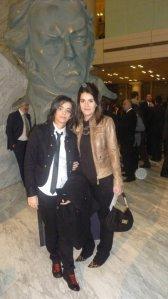 Tamara Mauri y Nuria Becerro a su llegada a los Goya